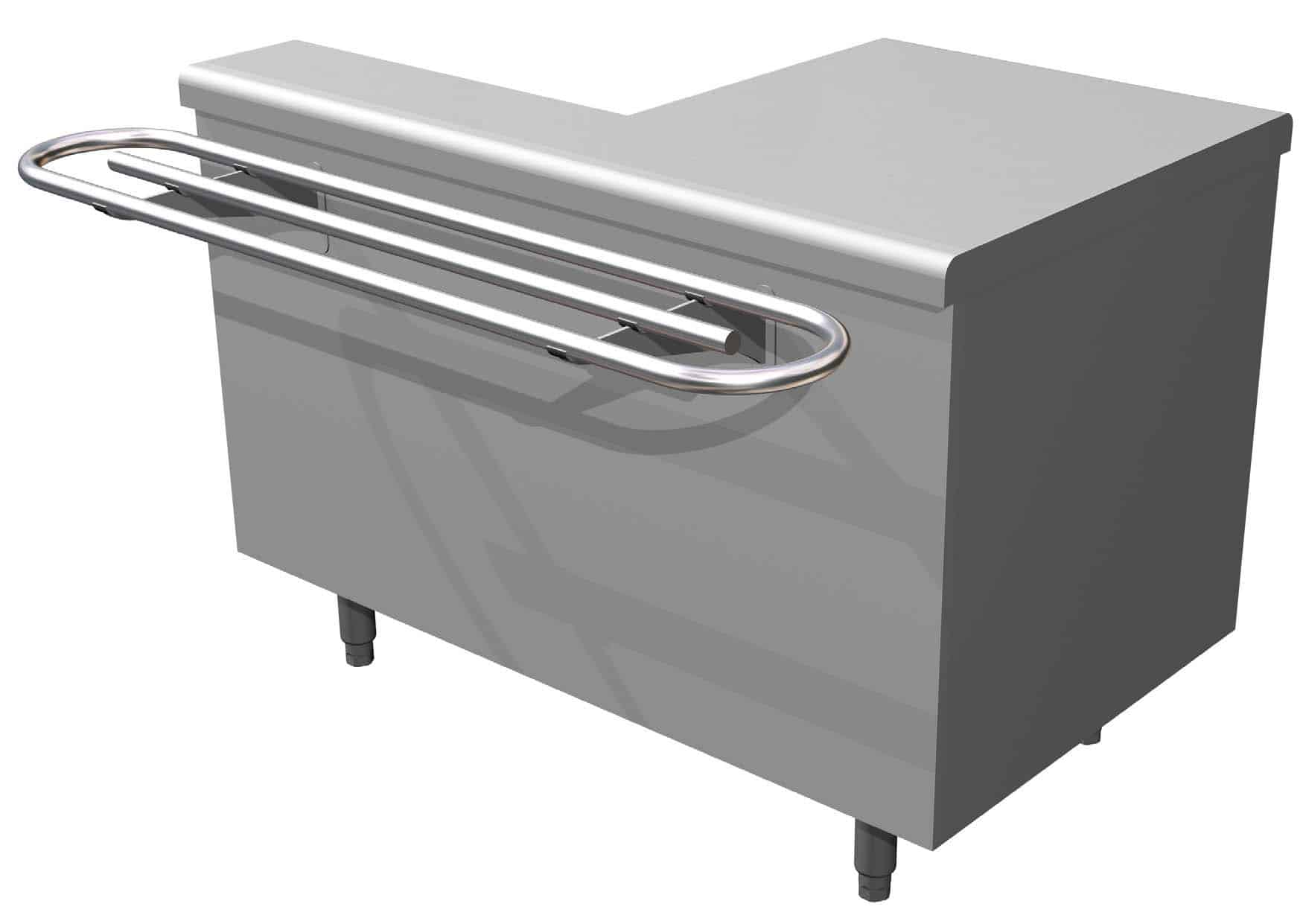 Stainless Steel Cash Desk