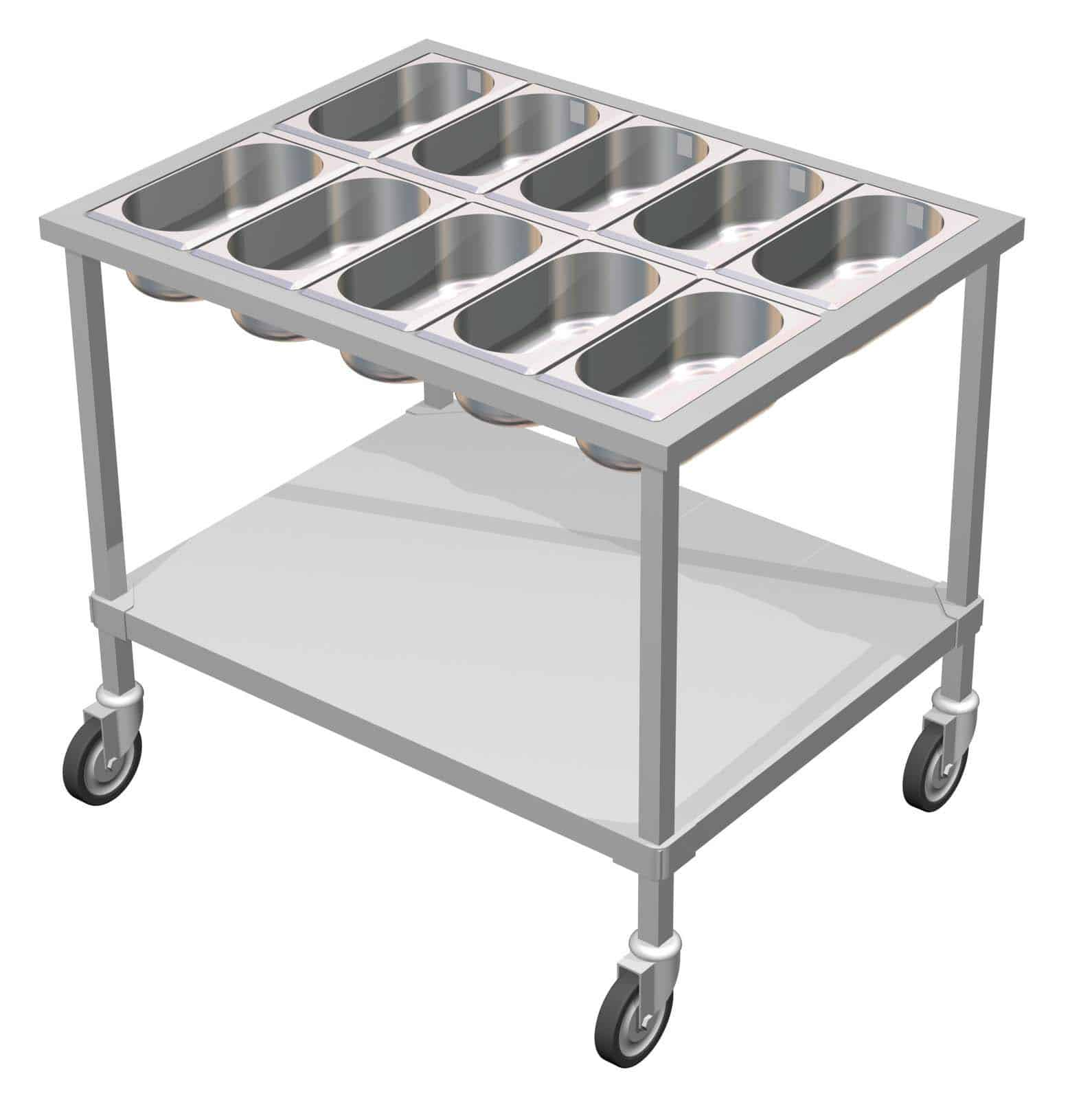 Stainless Steel Salad Table