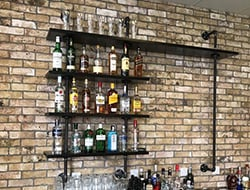Gas Pipework Shelf