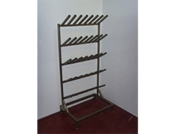 Aluminium Static Single Sided Welly Rack