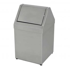 Stainless Steel Flip Top Bin