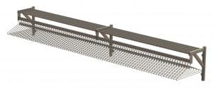 Stainless Steel Coat Rail with Shelf