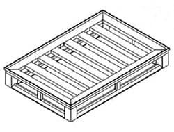 Flat Full Perimeter Pallet with Rim