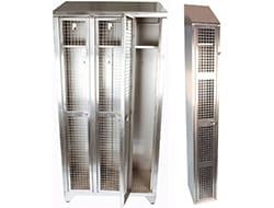Mesh and Perforated Lockers